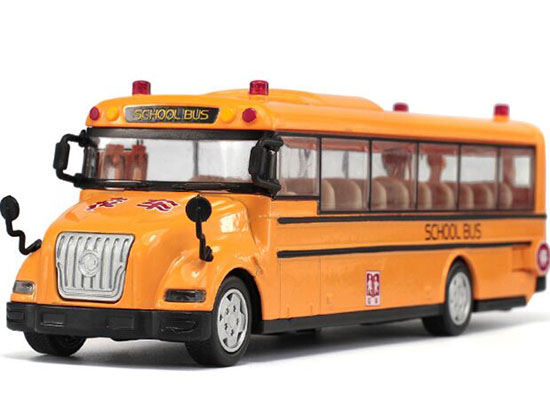 Yellow Kids 1:55 Scale Diecast School Bus Toy