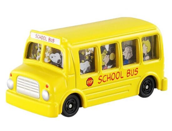 Kids Yellow NO.154 Tomica Diecast Snoopy School Bus Toy