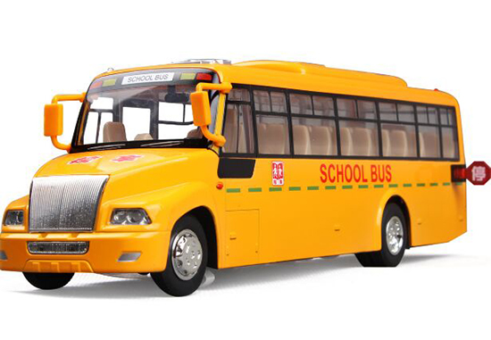 1:50 Scale Kids Yellow Diecast School Bus Toy
