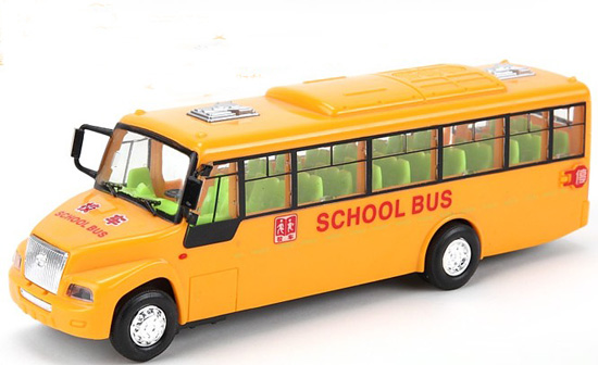 Kids Yellow Plastics School Bus Toy