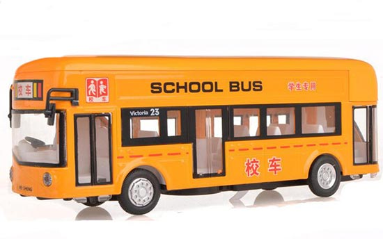 1:32 Scale Kids Yellow Diecast School Bus Toy