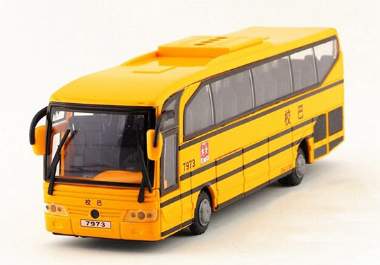 Yellow 1:50 Scale Kids Diecast School Bus Toy