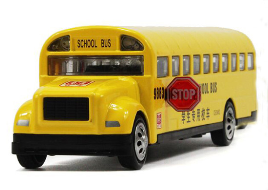 Kids Yellow 1:32 Scale NO.9883 Diecast School Bus Toy