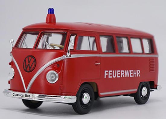 Welly 1:24 Scale Red Diecast VW T1 Bus Model