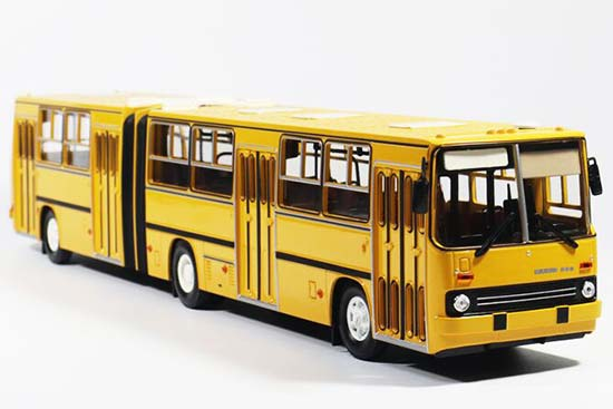1:43 Scale Yellow / White Diecast Ikarus 280 Articulated Bus Mod