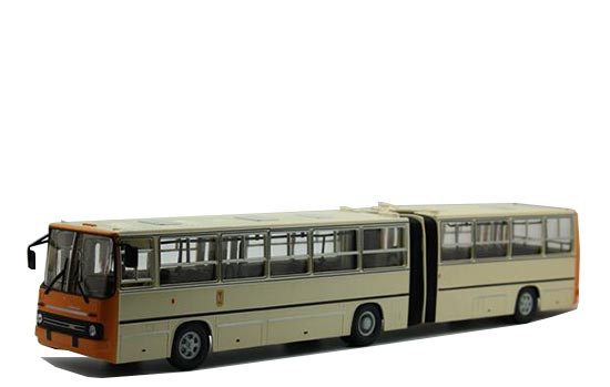 Creamy White 1:43 Scale Diecast Ikarus 280 Articulated Bus Model