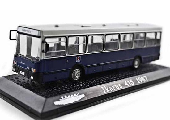 Blue 1:72 Scale Atlas Diecast Ikarus 415 1987 City Bus Model
