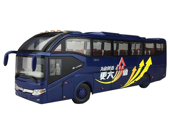 Blue 1:42 Scale Diecast YuTong ZK6127H Coach Bus Model