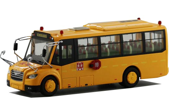 1:43 Scale Yellow Diecast ZhongTong LCK6801DX School Bus Model