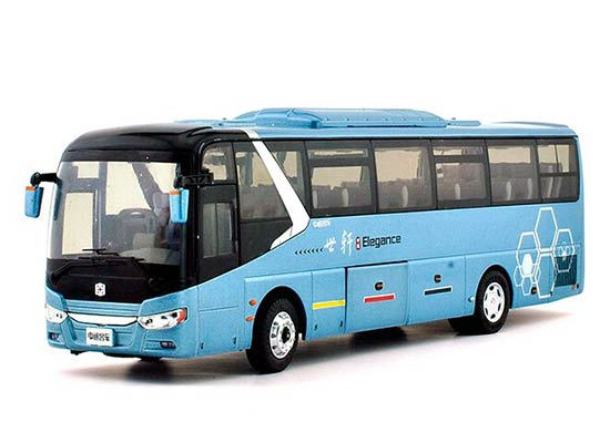 Blue 1:43 Scale Diecast ZhongTong LCK6117HQD1 Coach Bus Model