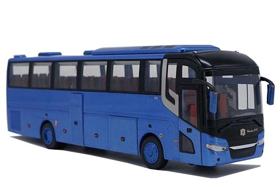 Blue / Red 1:43 Diecast ZhongTong LCK6127H Coach Bus Model