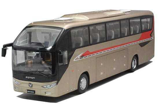 1:36 Scale Golden Diecast Foton AUV 6122 Coach Bus Model