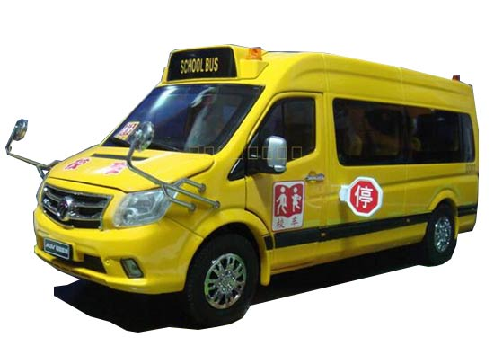 Yellow 1:24 Scale Diecast Foton AUV School Bus Model