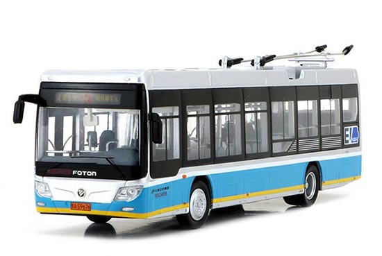 1:64 Blue NO.116 Diecast Foton BJDWG120FK Trolley Bus Model