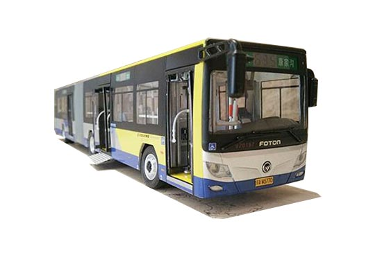 Blue NO.635 Diecast Foton BJ6160C6CCD Articulated Bus Model