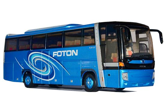 Blue 1:36 Scale Diecast Foton AUV BJ6125U7BKB-1 Coach Bus Model