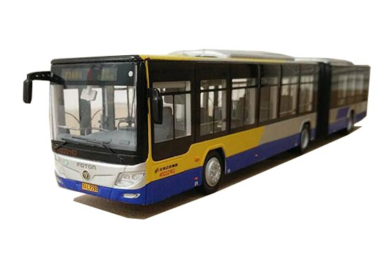 1:64 Scale NO.1 Diecast Foton BJ6180C8CTD Articulated Bus Model