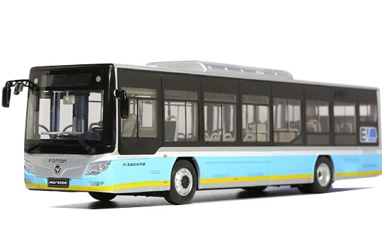 1:36 Scale Blue Diecast Foton BJ6123EVCA BeiJing City Bus Model