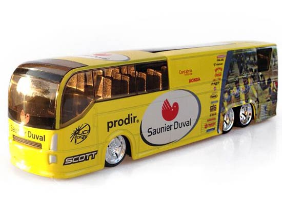 Yellow 1:50 Scale Saunier Duval Prodir Diecast Coach Bus Model