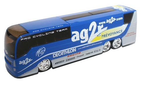 Blue 1:50 Scale France AG2R Diecast Coach Bus Model