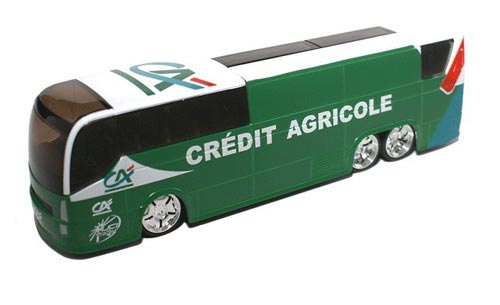 1:50 Scale Green France Credit Agricole Diecast Coach Bus Model