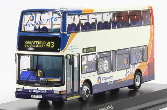 NO.43 UKBUS2017 Diecast Dennis Trident Double Decker Bus Model