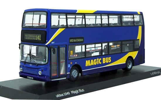 Blue 1:76 UKBUS1049 Diecast Dennis Double Decker Bus Model