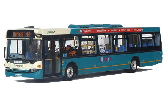 Green 1:76 Scale UKBUS7012 Diecast Scania Arriva Bus Model