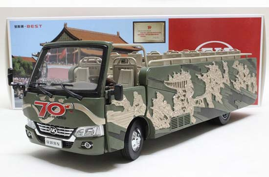 1:24 Scale Army Green Diecast Ankai Bus Model
