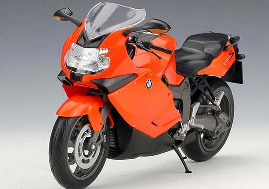 Orange/ White / Red 1:10 Scale Welly BMW K1300S Motorcycle
