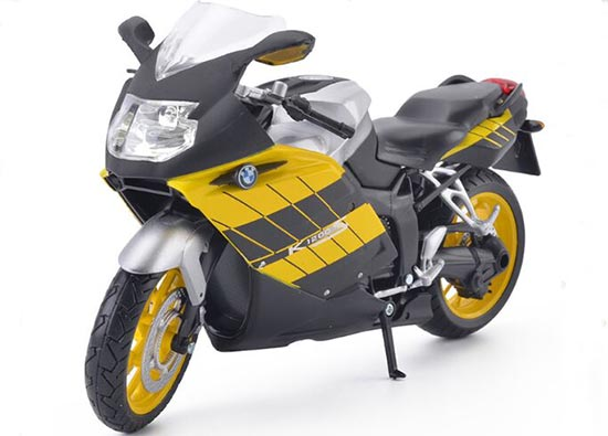 Yellow / Blue / Silver 1:12 Scale BMW K1200S Motorcycle