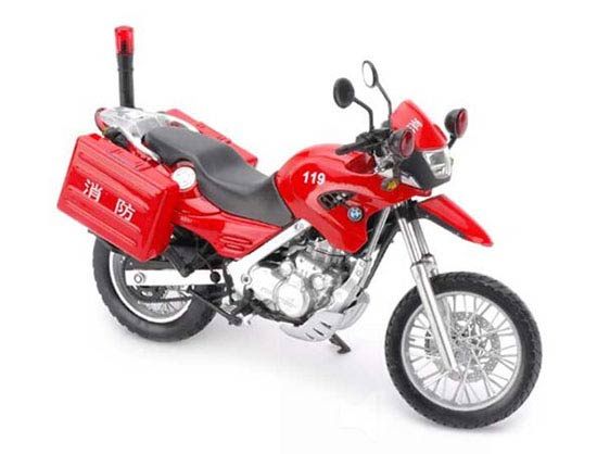 1:12 Scale Red / Blue / Yellow BMW F650GS Motorcycle