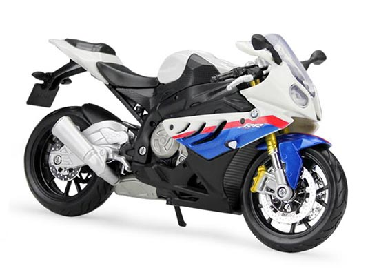 White / Green 1:12 Scale Maisto BMW S1000RR Motorcycle