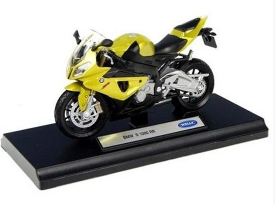 Navy Blue 1:18 Scale Welly BMW S1000RR Motorcycle