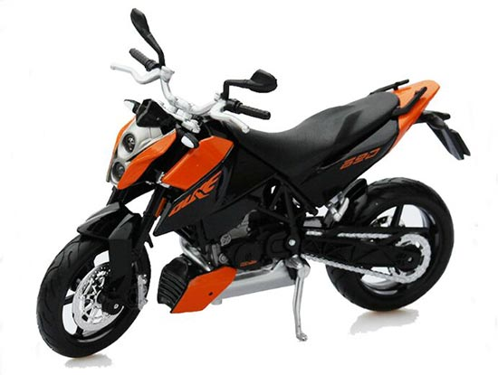 Orange-Black 1:12 Scale MaiSto KTM 690 DUKE Motorcycle