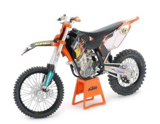 White-Black 1:12 Scale Diecast KTM 450 SX-F 09 Motorcycle Model