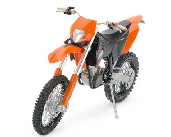 Orange-Black 1:12 Scale KTM 450 EXC Motorcycle