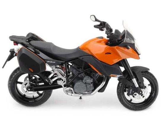 Orange / Black / White 1:12 Scale KTM 990 SM T Motorcycle