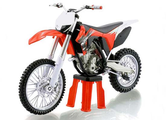 1:12 Scale Orange-Black KTM 350 SX-F Motorcycle