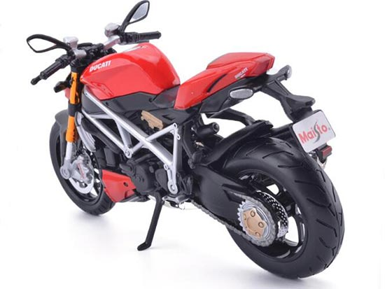 1:12 Scale Red MaiSto Ducati StreetFighter Motorcycle