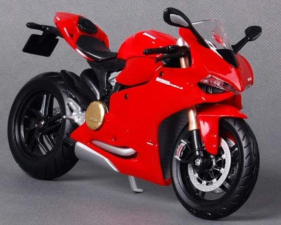 1:12 Scale Red MaiSto Diecast Ducati 1199 Panigale Motorcycle