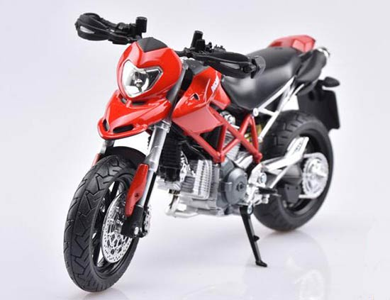 Red / Black / White 1:12 Scale Ducati Hypermotard 2010