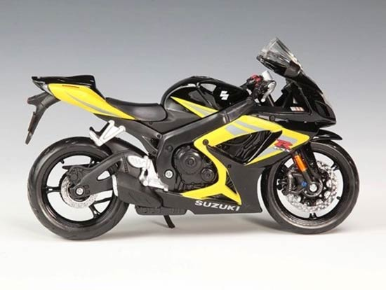 1:12 Scale Blue / Yellow MaiSto SUZUKI GSX R750 Motorcycle