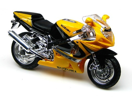 1:18 Scale Yellow MaiSto SUZUKI GSX 750 Motorcycle