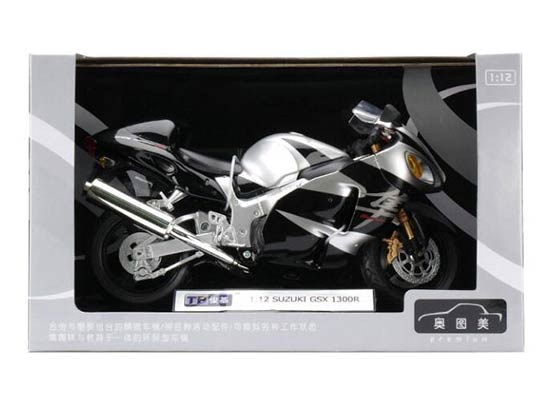 Red / Silver / Blue 1:12 Scale SUZUKI GSX 1300R Motorcycle
