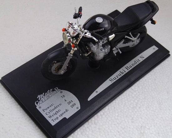 Black 1:18 Scale SUZUKI Bandit N Motorcycle