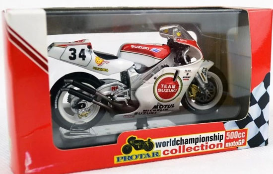 White-Red 1:22 Scale SUZUKI RGV-500 Motorcycle