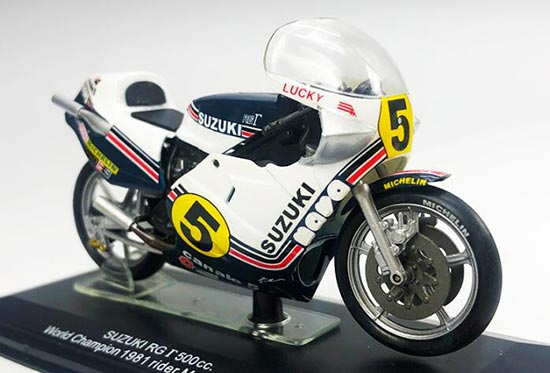 White-Blue 1:18 Scale ITALERI SUZUKI RG -500CC Motorcycle