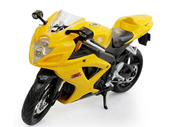 Black / Yellow 1:12 Scale Maisto Suzuki GSX-R600 Motorcycle ...