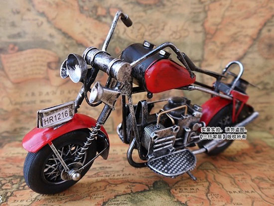 Blue / Green / Red / Wine Red Tinplate Vintage Motorcycle